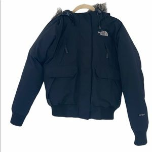 The North Face HyVent Coat with Fur Hood Sz S